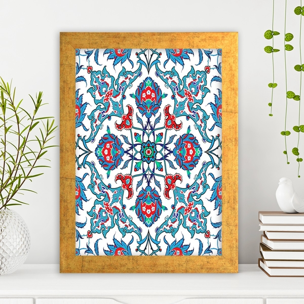 AC260709722 Multicolor Decorative Framed MDF Painting