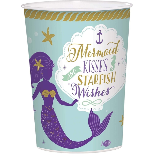 Mermaid Wishes Favour Cups 473ml 1 Piece