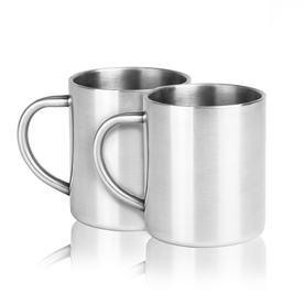 Set of 2 Stainless Steel Mugs | M&W