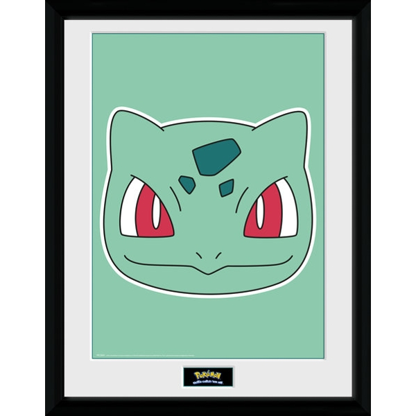 Pokemon Bulbasaur Face Collector Print