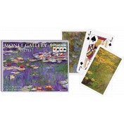 Monet Lilies Bridge Doubles Game Playing Playing Cards