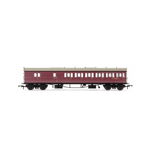 Hornby BR Collett 57' Bow Ended D98 Six Compartment Brake Third (Right Hand) W5508W Era 4 Model Train