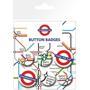 Transport For London - Underground Map Badges