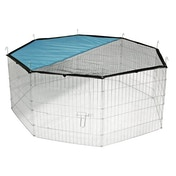 Large Outdoor Pet Playpen, 8 Panel Enclosure with Net Pet World