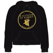 5 Seconds of Summer Derping Stamp Hoodie Black XX-Large