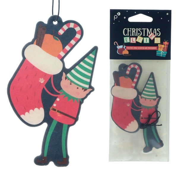 Christmas Elf Festive Spice Scented (Pack Of 6) Air Freshener