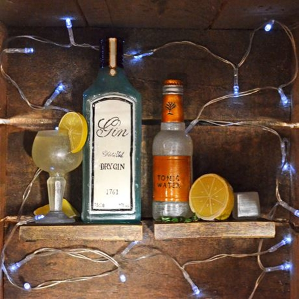 Gin and Tonic Shelf Tidy Pair Bookends