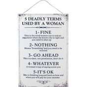 Deadly Terms Sign