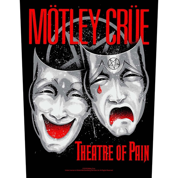 Motley Crue - Theatre of Pain Back Patch