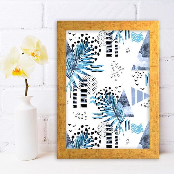 AC649098685 Multicolor Decorative Framed MDF Painting