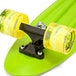 Xootz Kid's Complete Retro Plastic Skateboard with LED Light Up Wheels Yellow - Image 3