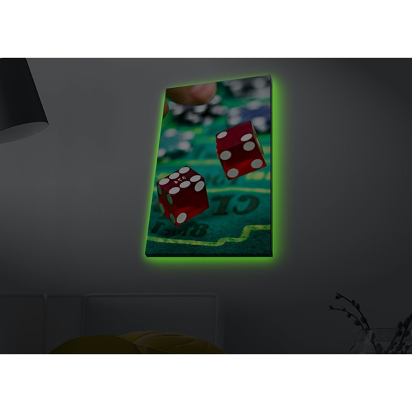 4570MDACT-048 Multicolor Decorative Led Lighted Canvas Painting