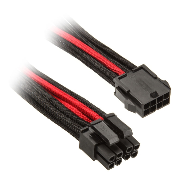Silverstone EPS 8-pin to EPS / ATX 4 +4 pin cable 30 cm - Black / Red