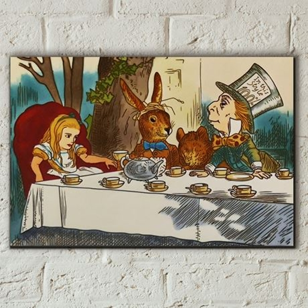 Tile 8x12 A Mad tea Party Alice In Wonderland Wall Art