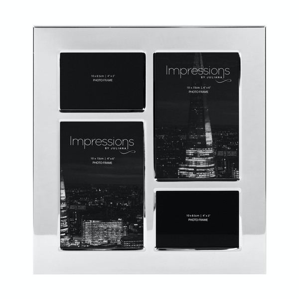 Impressions Nickel Plated Photo Frame 4 Apertures | 4 X 2.5