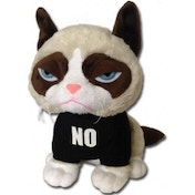 Grumpy Cat 10 inch Sitting Grumpy Cat Plush with T-Shirt