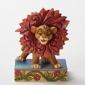 Disney Traditions Lion King Just Can't Wait to be King Simba Figurine