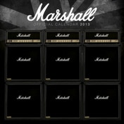Marshall Amps Square Calendar 2013