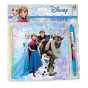 Disney Frozen Spiral Notebook with 30 Pages & Pen