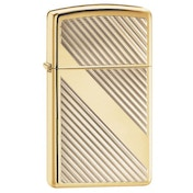 Zippo Lines Design High Polish Brass Windproof Lighter
