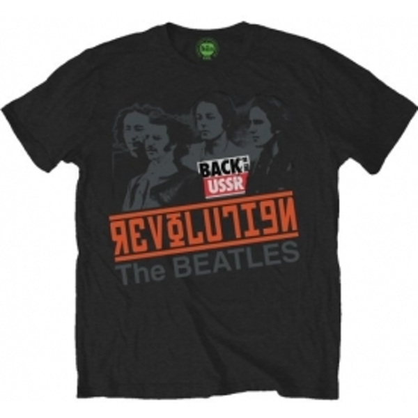 The Beatles - Revolution Back in the USSR Men's Small T-Shirt - Black