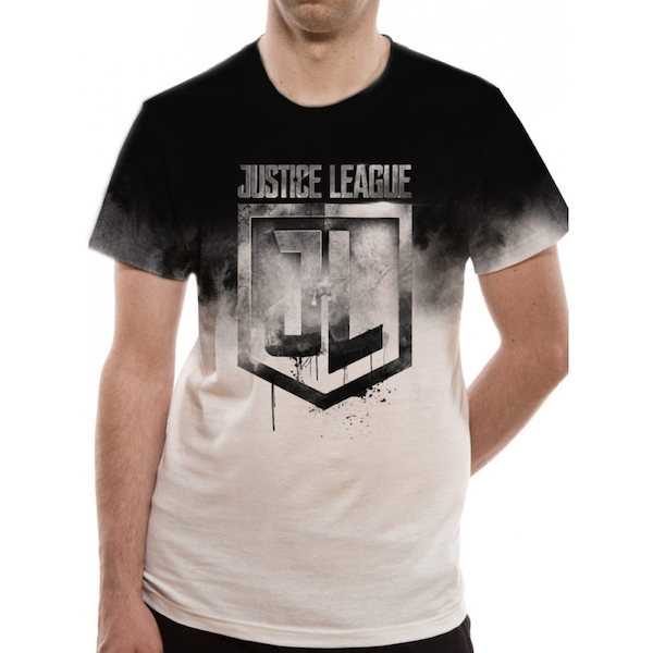 Justice League Movie - Jumbo Print Men's Small T-Shirt - Black