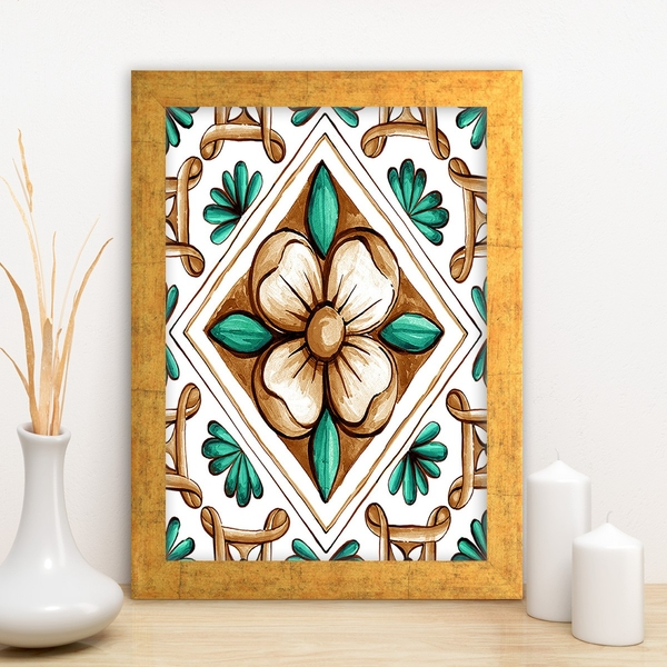 AC4821034122 Multicolor Decorative Framed MDF Painting