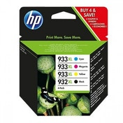 HP Officejet 7110/7610 Printer 932XL Black Ink Cartridge   933XL Cyan/Magenta/Yellow Ink Cartridges (Combo Pack)