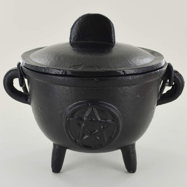 Pentagram Cast Iron Cauldron (Medium)