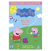 Peppa Pig Muddy Puddles Flying a Kite New Shoes DVD