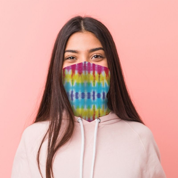 Rainbow Tie Dye Neck Scarf Face Covering