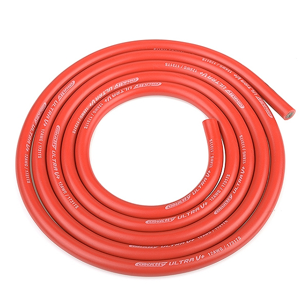Corally Ultra V+ Silicone Wire Super Flexible Red 12Awg 1731/0.05 Strands Od4.5Mm 1M