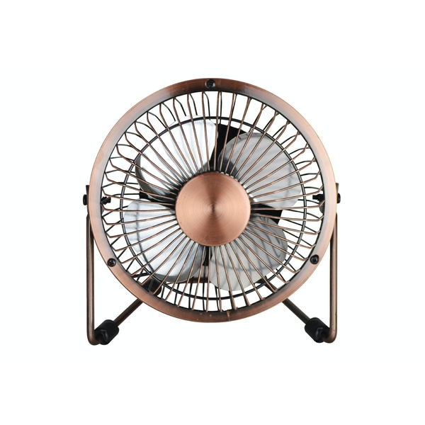 Status 4inch Mini USB Powered Desk Fan - Antique Metal Finish