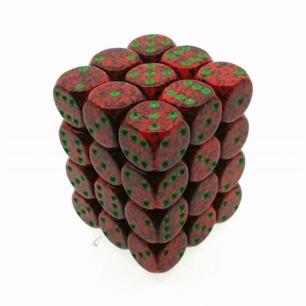 Chessex Speckled D6 Set of 36 : Strawberry