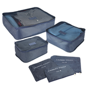 Suitcase Luggage Packing Cubes | Pukkr Blue