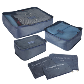 Suitcase Luggage Packing Cubes | M&W Blue