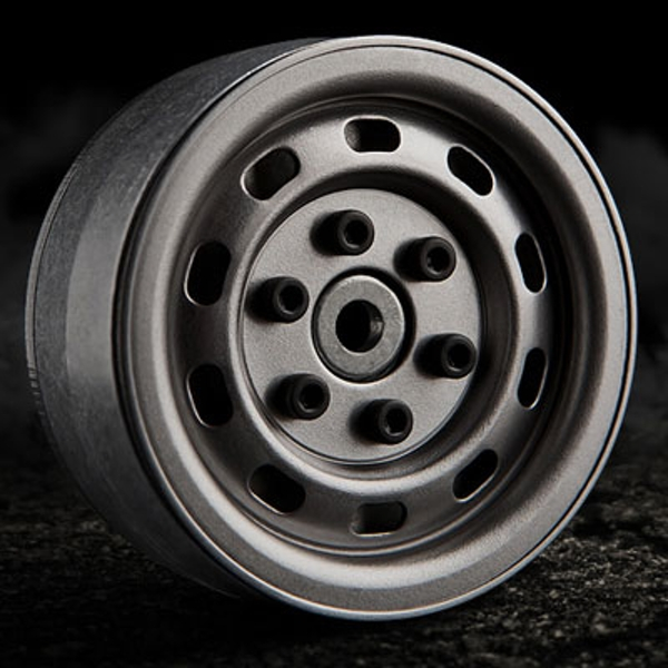 Gmade 1.9 Sr02 Beadlock Wheels (Uncoated Steel) (2)