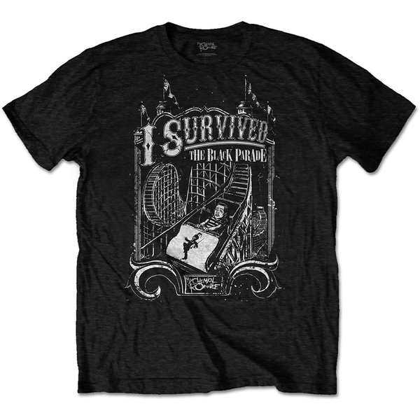 My Chemical Romance - I Survived Unisex Small T-Shirt - Black