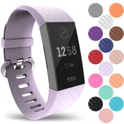 YouSave Silicone Strap - Large - Lilac compatible with Fitbit Charge 3