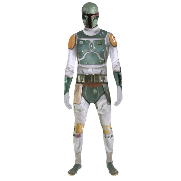 Star Wars Boba Fett Adult Medium Zappar Cosplay Costume Digital Morphsuit