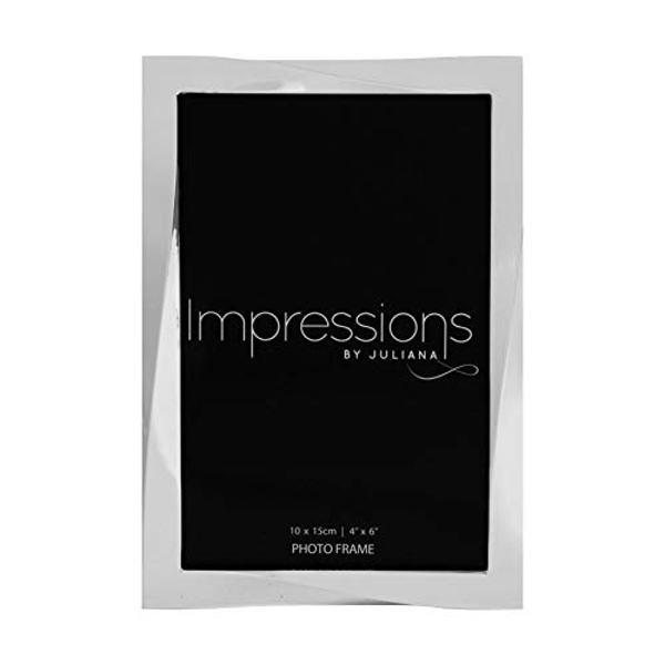 "4"" x 6"" - Impressions Silver Plated Twisted Photo Frame"