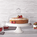 Ceramic Cake Stand with Glass Cover | M&W - Image 2