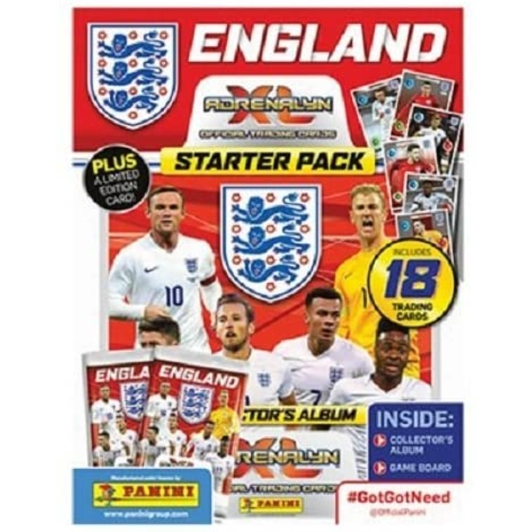 England 2016 Adrenalyn XL Trading Card Starter Pack