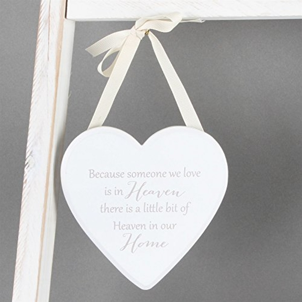 Thoughts Of You 'Heaven In Our Home' Heart Plaque