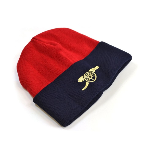 Arsenal Core Cannon Knitted Turn Up Hat Red Navy