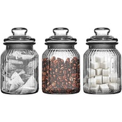 Set of 3 Glass Jars 990ml