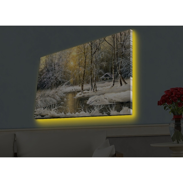 4570HDACT-055 Multicolor Decorative Led Lighted Canvas Painting
