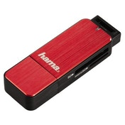 Hama USB 3.0 Card Reader, SD/microSD, red