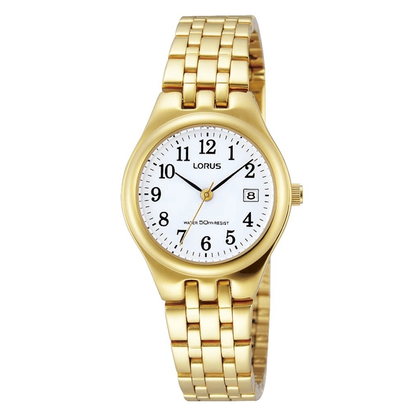 Lorus RH786AX9 Ladies Watch with Gold Plated Bracelet Strap