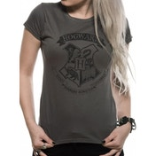Harry Potter - Distressed Hogwarts (Fitted)  Grey Large